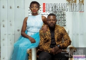 Photos: Comic Rapper, Falz And Simi, Look Like Couple In The Cover Of Impelling Africa Magazine